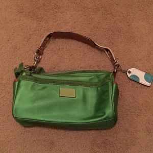 Coach satin purse